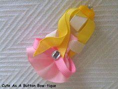 Aurora Ribbon Clippie   (Made by Cute as a Button Bow-tique)