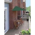 Blue Star Group Terrace Mates Bistro Economy 5-Piece Patio Bistro Set with 7.5 ft. Green Sunbrella Half-Umbrella