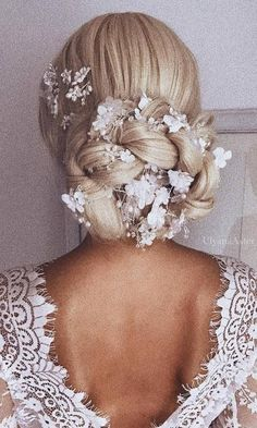Ulyana Aster Long Wedding Hairstyles / http://www.deerpearlflowers.com/updo-hairstyles-for-special-occasion/ #weddinghairstyles #weddingmakeup