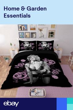 Marilyn Monroe Duvet Cover Set with pillow case Queen King Bedding Set NEW King Size Bedding Sets, Duvet Bedding Sets, Raider Nation, Red Duvet Cover, Duvet Cover Sets, Skull Bedroom, Bedroom Decor, Marilyn Monroe Room, Drawing Room Interior