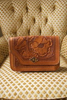tooled leather purse by peacockfeet