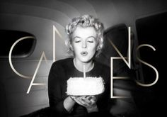 The edition of the Cannes Film Festival starts today! This official 2012 poster portrays Marilyn Monroe blowing out a candle. This year also marks the anniversary of Marilyn Monroe's death. Photo Cannes, Michael Haneke, Cannes Film Festival 2014, Festival Cinema, Cannes 2014, Cannes Awards, Nice Cannes, Festival Logo, Festival Posters