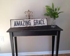 """Lovely Handmade """"amazing grace"""" pallet sign"""
