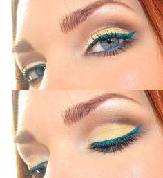 Fun turquoise liner