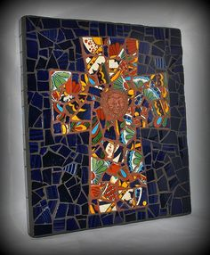 """Always"" Talavera Pottery Cross. Mosaic."