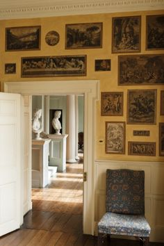 the print room of the vyne, a sixteenth-century tudor manor in hampshire, england