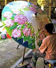 Umbrella painting - Chiang mai culture doi suthep chiang mai temples and city tours