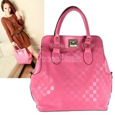 $11.80 New Fashion Women's Synthetic Leather Small Checkered Grain One Shoulder Bag Purse Handbag