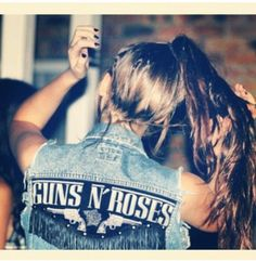 Guns n' Roses...I def need this jacket.