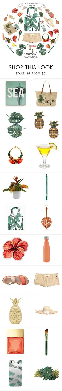 """""""Fanny"""" by gnockies ❤ liked on Polyvore featuring Lucius Designs, Straw Studios, Marc Jacobs, Elizabeth Cole, NYX, Valentino, LaMont, S'well, Furla and Roxy"""