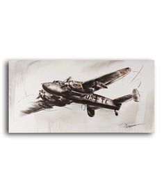 This Sketchy Antique Airplane Canvas by Giftcraft is perfect! #zulilyfinds