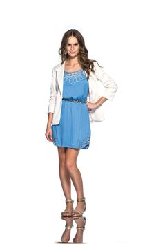 #look #dress #blu