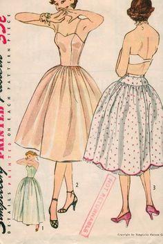 Simplicity 3739 1950s 50s Crinoline Petticoat by EleanorMeriwether