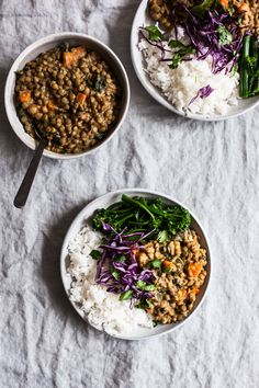 Creamy Coconut Curried Green Lentils   The Full Helping