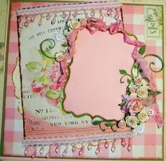 scrapbook pages with roses | Found on etsy.com