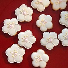 庭で梅の花が満開です。春がもう直ぐですね - 278件のもぐもぐ - アイシングクッキー 梅の花 by あすか