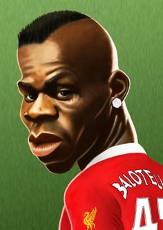 Mario Balotelli Ynwa Liverpool, Liverpool Players, Liverpool Football Club, Premier League Soccer, You'll Never Walk Alone, Best Football Team, English Premier League, Cartoon Faces, Famous Faces