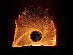Flickr user outabounds makes extraordinary long exposure light paintings