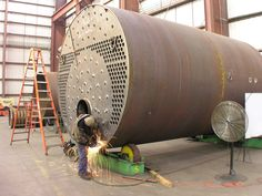 Steam Boiler, Industrial, Chemical Engineering, Welding Projects, Clean Up, Plant, Steel, Fabric, People