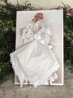 Bridal Hanky Card by onceuponahanky on Etsy, $10.00