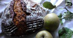 Apfel -Zwiebel -Schinkenkruste