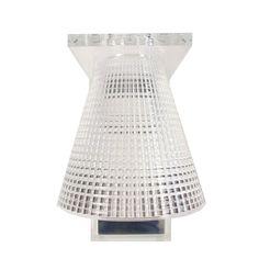 LIGHT AIR - Kinkiet ścienny Przezroczysty Wys.21cm Kartell Eugeni Quitllet : Kinkiet Light Air, składający się z podstawy montażowej i stożkowego, zawieszonego klosza z tec...