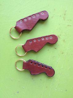 "Leather ""STRAT"" key bob"