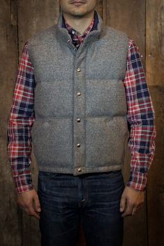 Crescent Down Works Italian Vest Grey Pendleton Wool