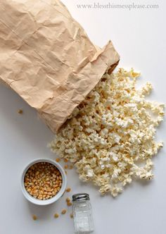How to Pop Popcorn in a Brown Paper Bag in the Microwave (I bet you didn't know you could do this!)