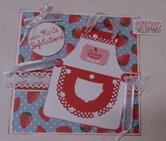 Card made with CraftEmotions Fifties Kitchen Collection.