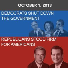 Make the Dems eat their strategy of always blaming someone else.  Remember who stood up for the American people.
