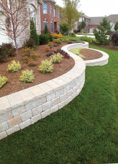 backyard remodel 25 Retaining Wall Ideas for any Types of Terrain and Landscapes Front House Landscaping, Outdoor Landscaping, Outdoor Gardens, Landscaping Ideas, Hydrangea Landscaping, Walkway Ideas, House Landscape, Landscape Design, Vintage Landscape