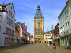 Walking along the streets of Speyer, Germany
