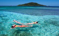 Vacation float [Cayos Cochinos, Honduras]