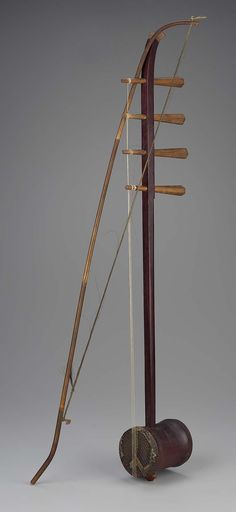 Fiddle (sihu) and bow | Museum of Fine Arts, Boston
