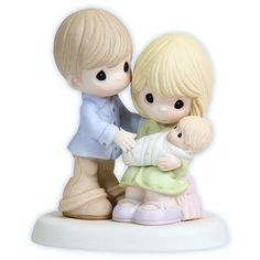 Precious Moments In Our Hearts from the Very Start Figurine - http://www.preciousmomentsfigurines.org/precious-moments/precious-moments-in-our-hearts-from-the-very-start-figurine-2/