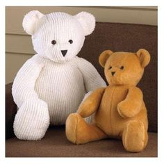 Kwik Sew Teddy Bears Pattern The Bears are designed for medium weight fabrics. We suggest fake fur, chenille, Polarfleece¨, velvet, felt, wool, boiled wool, boucle, denim, corduroy, terry cloth. Bears in two sizes, Large & Small, are stuffed with polyester fiberfill. 11.98
