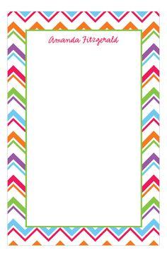 Polka Dot Design Digital - Graduation Gifts - Colorful Chevron Notepad