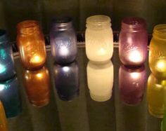 Recycle Reuse Renew Mother Earth Projects: Colored Mason Jars