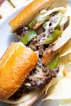 This Philly Cheesesteak recipe is so easy: thinly sliced ribeye steak with gooey provolone cheese, onions, peppers, and mushrooms all on a hoagie roll. Homemade Philly Cheesesteak, Cheesesteak Recipe, Grilled Burger Recipes, Steak Recipes, Grilled Cheeses, Quick Recipes, Quick Meals, Cheese Stuffed Mushrooms, Stuffed Peppers