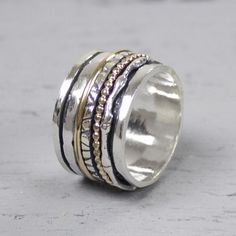 18484-Ring zilver en gold filled
