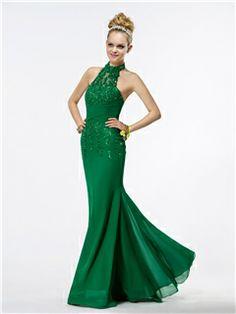 Charming Halter Sleeveless Trumpet Floor-length Prom Dress