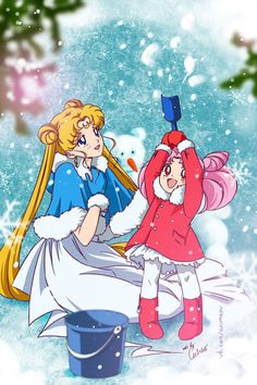 Princess Serenity and Chibiusa