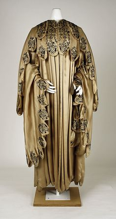 HAVE NO CLUE if this is a mans coat or a ladies coat from the MET Search the collections Evening coat Exhibitions: Charles James: Beyond Fashion  Coat  Date: ca. 1910 Culture: American or European Medium: jet