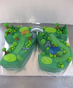 Perfect cake for the golfer who can shoot their age on their 75th birthday.