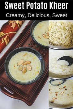 Sweet potato kheer recipe - As the name says, It is made from sweet potato. Milk and sugar are used just like any other kheer recipe. Sweet potato is called shakarkandi in Hindi and so this recipe is called shakarkandi ki kheer. During this cooking process, grated sweet potato will be cooked until it gets really soft. So while eating, the grated pieces will melt in your mouth. Kheer Recipe, Krishna Janmashtami, Indian Food Recipes, Ethnic Recipes, Melt In Your Mouth, Spice Things Up, Sweet Potato, Curry, Spices
