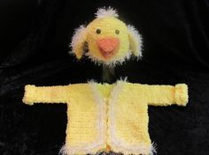 Chick Hat and Matching Sweater for Baby   12 to 18 by clriegs, $50.00