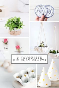6 DIY Clay Projects From Gathering Beauty blog. ~ Love ~