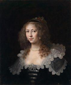 Porträt einer jungen Dame by Cornelis Janssens van Ceulen (1593-1661) - Flemish artist painting mainly miniature portraits in England