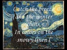 Don McLean - Vincent ( Starry, Starry Night) With Lyrics - YouTube